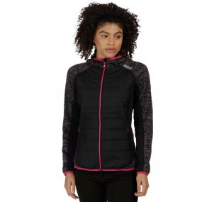 Women's Pendan Hybrid Stretch Fleece Black