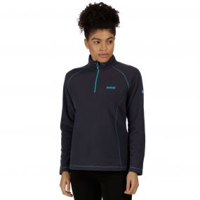 Women's Kenger Half Zip Mid Weight Honeycomb Fleece Seal Grey