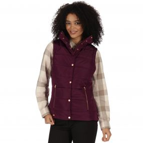 Wynne High Shine Insulated Puffer Gilet Fig