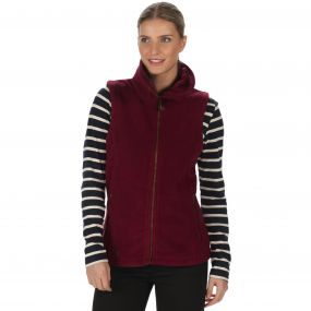 Bertina Heavyweight Fleece Gilet Fig