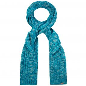 Women's Frosty Knitted Scarf Aqua