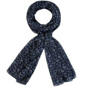 Women's Peggie II Printed Cotton Scarf Navy
