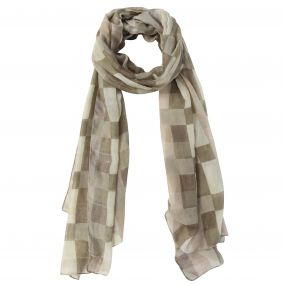 Women's Peggie II Printed Cotton Scarf Warm Beige