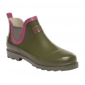 Women's Harper Low Wellington Boots Olive Night Red Violet