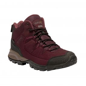 Women's Holcombe Mid Walking Boots Fig Rose Blush