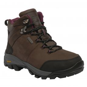 Women's Asheland Hiking Boots Peat Dark Burgundy