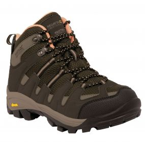 Women's Burrell Hiking Boots Brown Coral