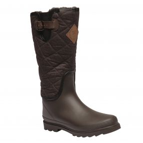 Women's Fleetwood Casual Wellington Boots Peat