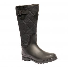 Women's Fleetwood Casual Wellington Boots Black