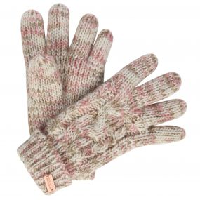 Women's Frosty Knit Gloves Light Vanilla