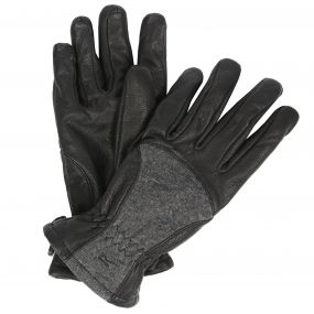 Women's Garabina Leather Gloves Black Ash