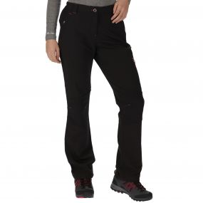 Women's Questra Stretch Softshell Trousers Black