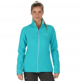 Connie III Funnel Neck Softshell Jacket Aqua Horizon