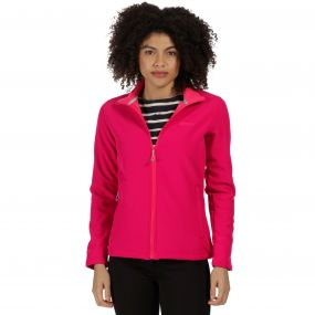 Connie III Funnel Neck Softshell Jacket Dark Cerise Bright Blush