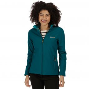 Connie III Funnel Neck Softshell Jacket Deep Teal Deep Lake