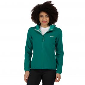 Women's Arec Stretch Hooded Softshell Jacket Deep Lake Atlantis