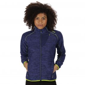 Catley II Hybrid Stretch Wind Resistant Softshell Jacket Dazzling Blue Twilight Marl