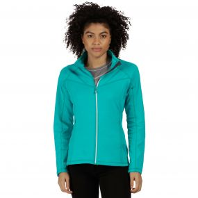 Esteli Hybrid Stretch Diamond Jacquard Softshell Jacket Aqua
