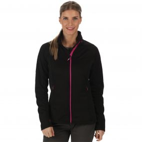 Esteli Hybrid Stretch Diamond Jacquard Softshell Jacket Black