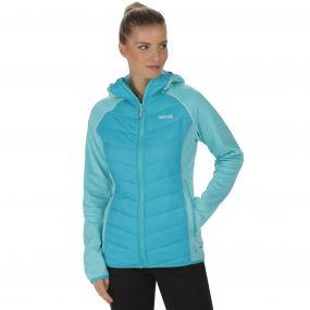 Women's Andreson II Hybrid Stretch Lightweight Insulated Jacket Horizon Aqua