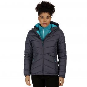 Women's Nevado Super Heavyweight Insulated Hooded Jacket Iron