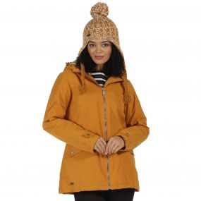 Brienna Waterproof Insulated Hooded Jacket Gold Cumin