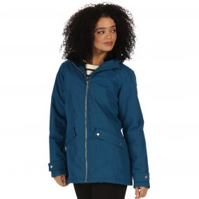 Brienna Waterproof Insulated Hooded Jacket Majolica Blue