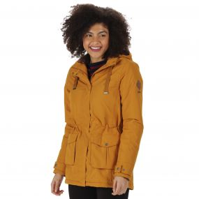 Beatriz Waterproof Insulated Jacket with Hood Gold Cumin