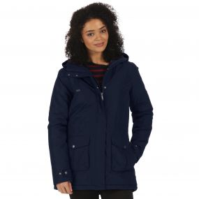 Beatriz Breathable Waterproof Insulated Jacket with Hood Navy