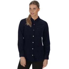 Maliyah Coolweave Cotton Corduroy Shirt Navy