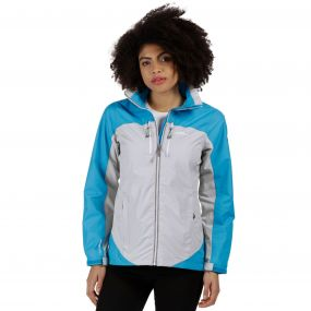 Women's Calderdale II Breathable Waterproof Shell Jacket Fluro Blue Light Steel