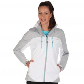 Women's Calderdale II Breathable Waterproof Shell Jacket White Light Steel