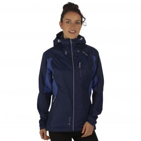 Women's Cross Penine III Hybrid Waterproof Jacket Navy Deep Ultramarine