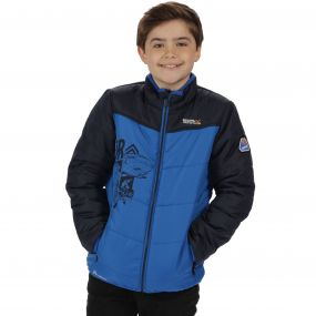 Thunderbirds Are Go Kids Recharge Padded Waterproof Jacket with Reflective Trim Oxford Blue Navy