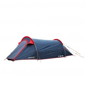 Halin 2-Man Backpacking Tent Grey-Red