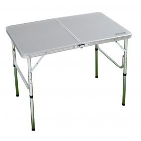Cena Lightweight Compact Plain Bi-Folding Camping Table Lead Grey