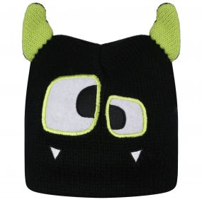 Kids Animally Hat II Monster Black Lime Zest