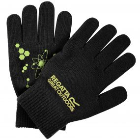 Kids Clutch II Glow In The Dark Knit Gloves Black