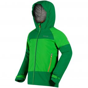 Kids Aptitude II Waterproof Stretch Jacket Fairway Green Verdant