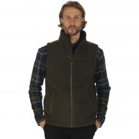 Rafferty II Heavyweight Fleece Gilet Bodywarmer Dark Khaki