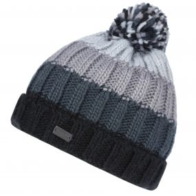 Men's Daved II Chunky Knit Fleece Lined Bobble Hat Black