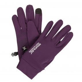 Men's Touchtip Stretch Softshell Gloves Blackberry Wine