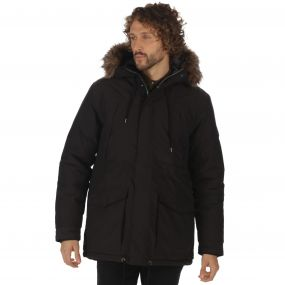 Alarik Breathable Waterproof Heavyweight Insulated Parka Jacket Black