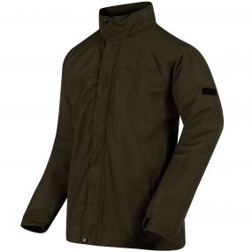 Hesper II Waterproof Fleece Lined Jacket with Concealed Hood Dark Khaki