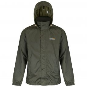 Magnitude IV Breathable Waterproof Shell Jacket with Concealed Hood Olive Night
