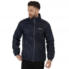 Lyle III Waterproof Shell Jacket with Concealed Hood Navy