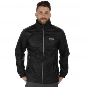 Lyle III Waterproof Shell Jacket with Concealed Hood Black