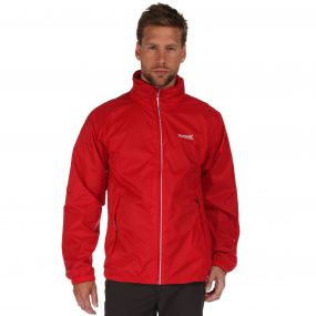 Lyle III Waterproof Shell Jacket with Concealed Hood Pepper Red