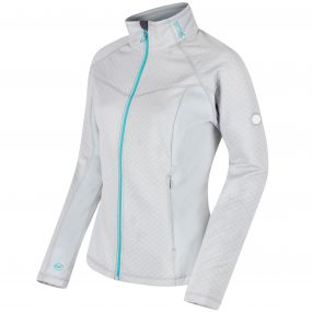 Esteli Hybrid Stretch Diamond Jacquard Softshell Jacket Light Steel