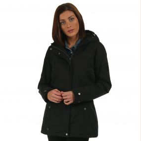 Brodiaea Waterproof Insulated Hooded Jacket Black
